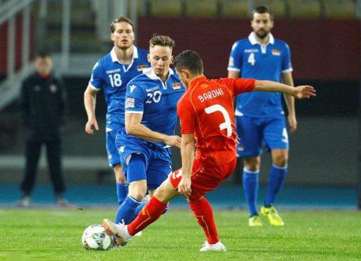 欧国联-马其顿4-1轻取列支敦士登 潘德夫1射2传