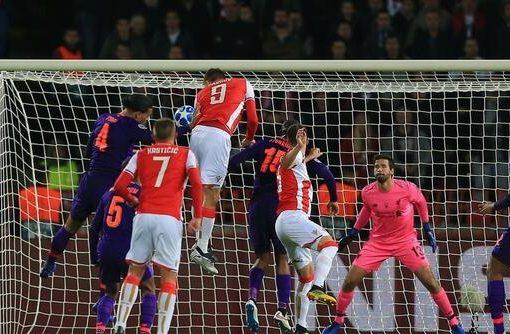 欧冠:萨拉赫中柱帕夫科夫双响,利物浦客场爆冷0-2红星