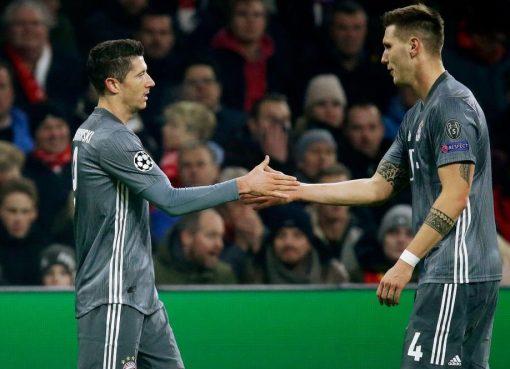 欧冠:莱万双响穆勒染红,拜仁客场3-3阿贾克斯头名晋级