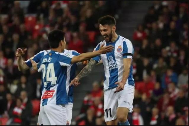 西甲-西班牙人1-1毕尔巴鄂6轮不败 武磊送西甲生涯首个助攻