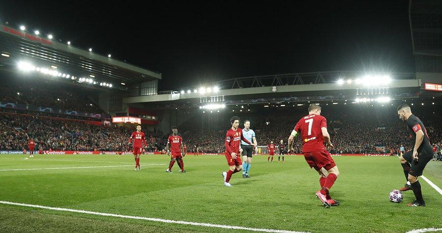 马竞官推:安菲尔德气氛很棒,祝利物浦在英超好运
